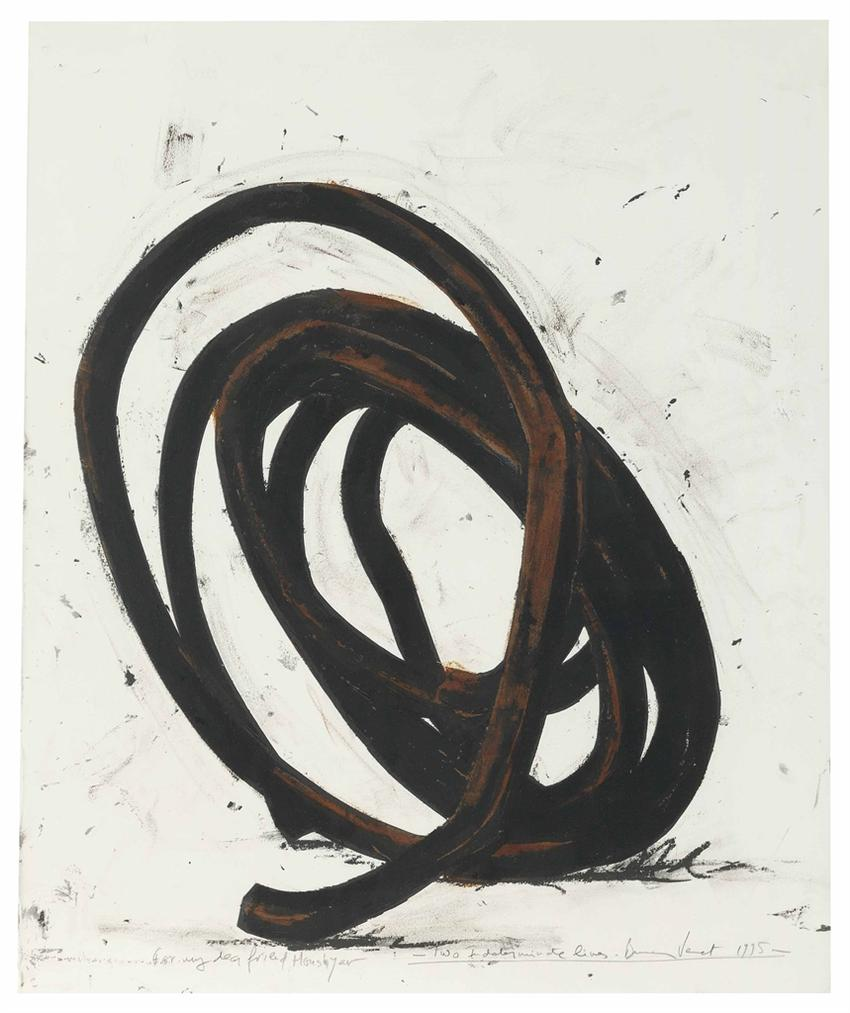 Bernar Venet-Two Indeterminate Lines-1995