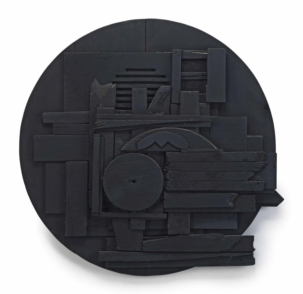 Louise Nevelson-Black Moon III-1961