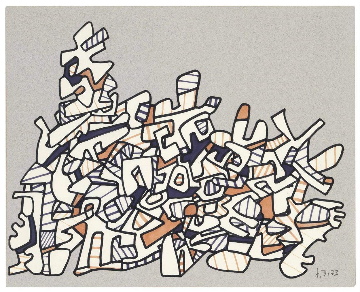 Jean Dubuffet-Motif III-1973