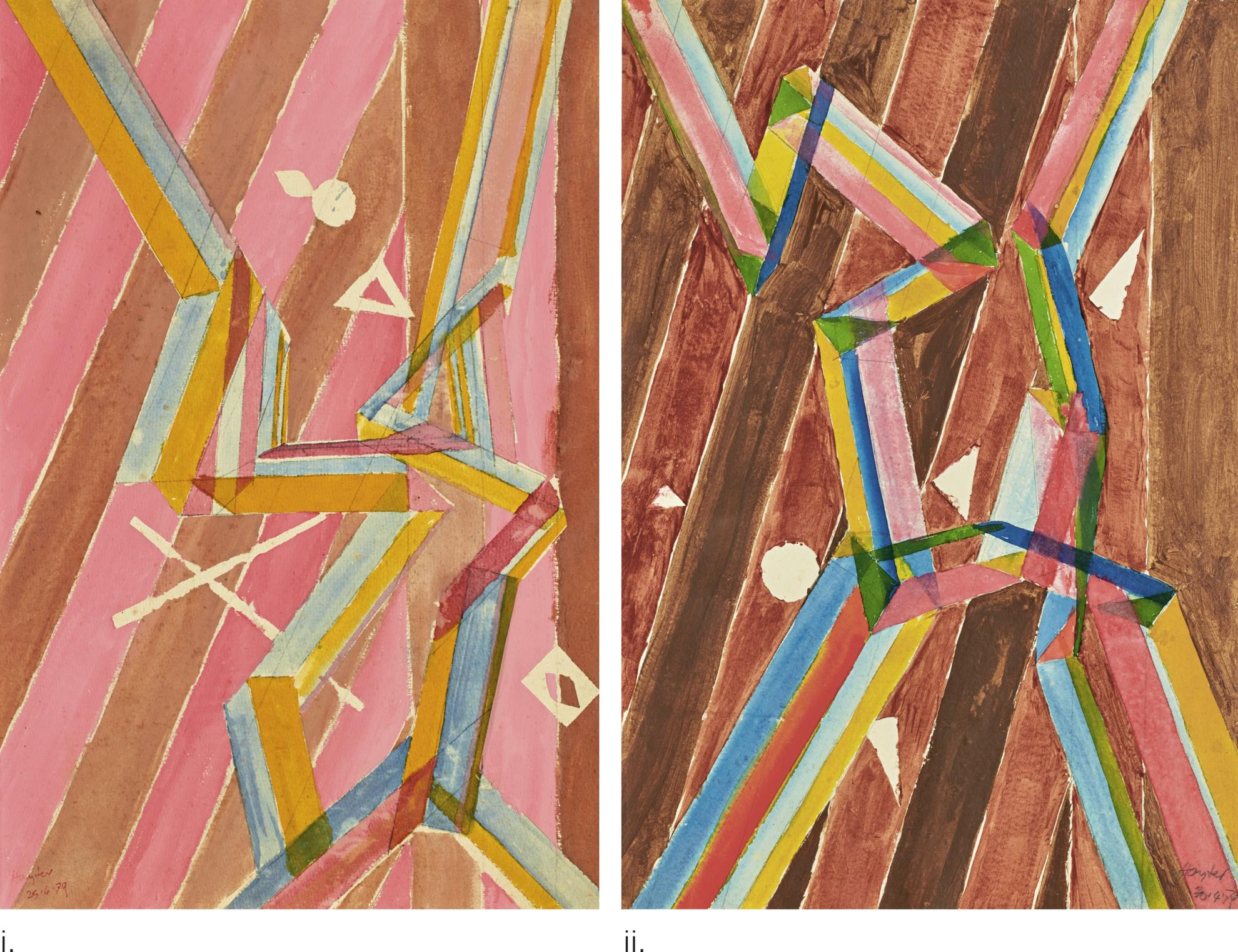 Stanley William Hayter-Composition II And Composition III [Two Works]-1979