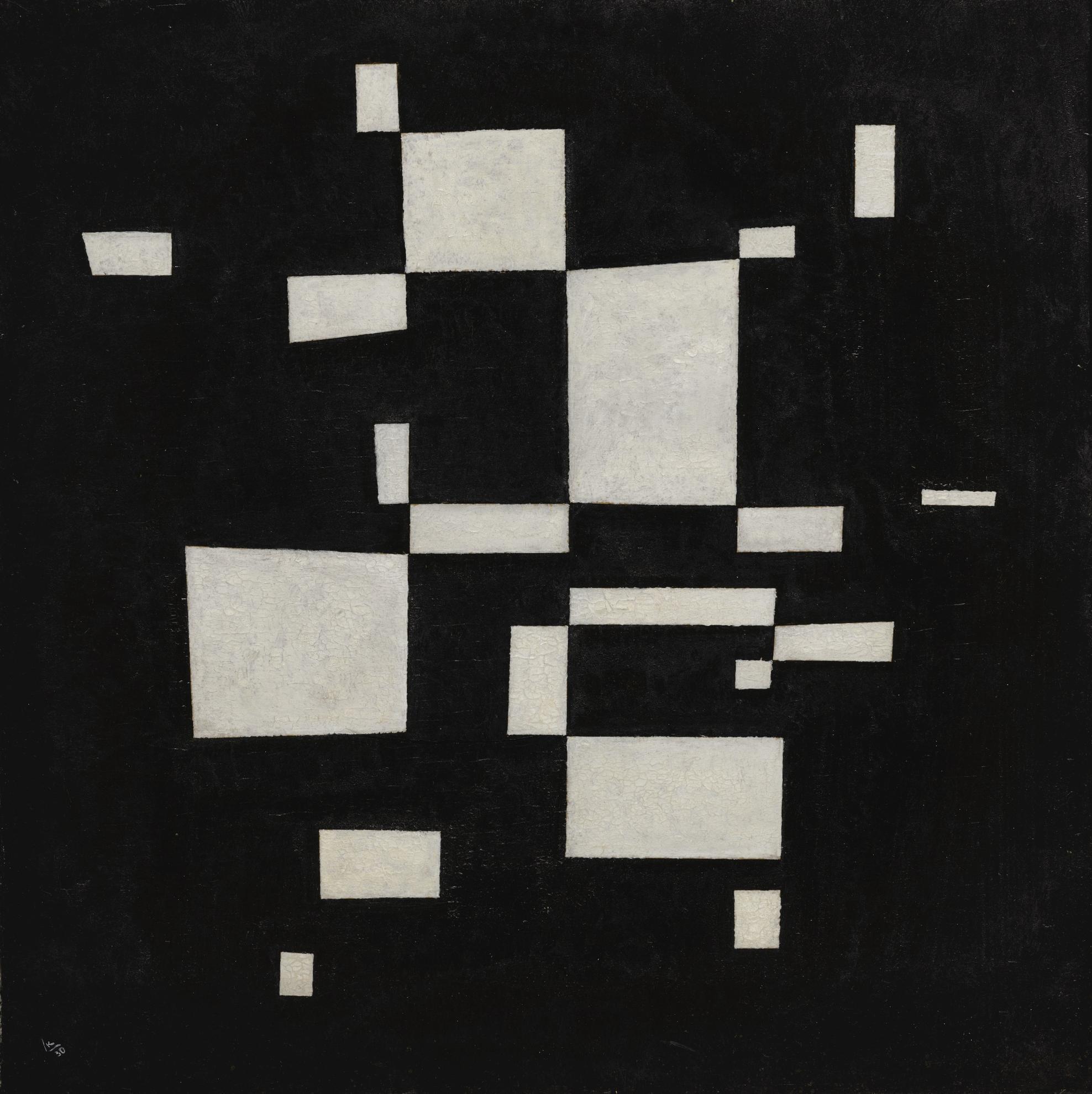 Wassily Kandinsky-Weiss Auf Schwarz (White On Black)-1930