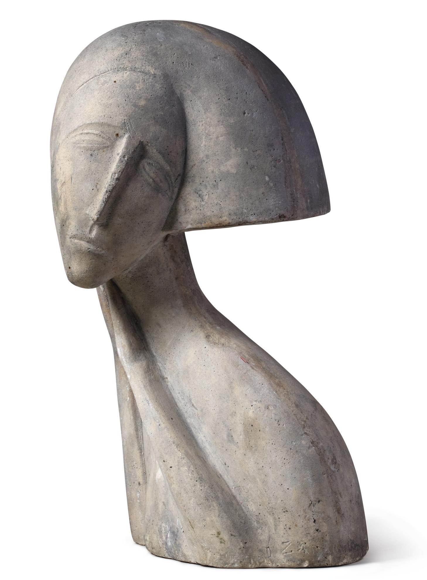 Ossip Zadkine-Buste De Femme-1915
