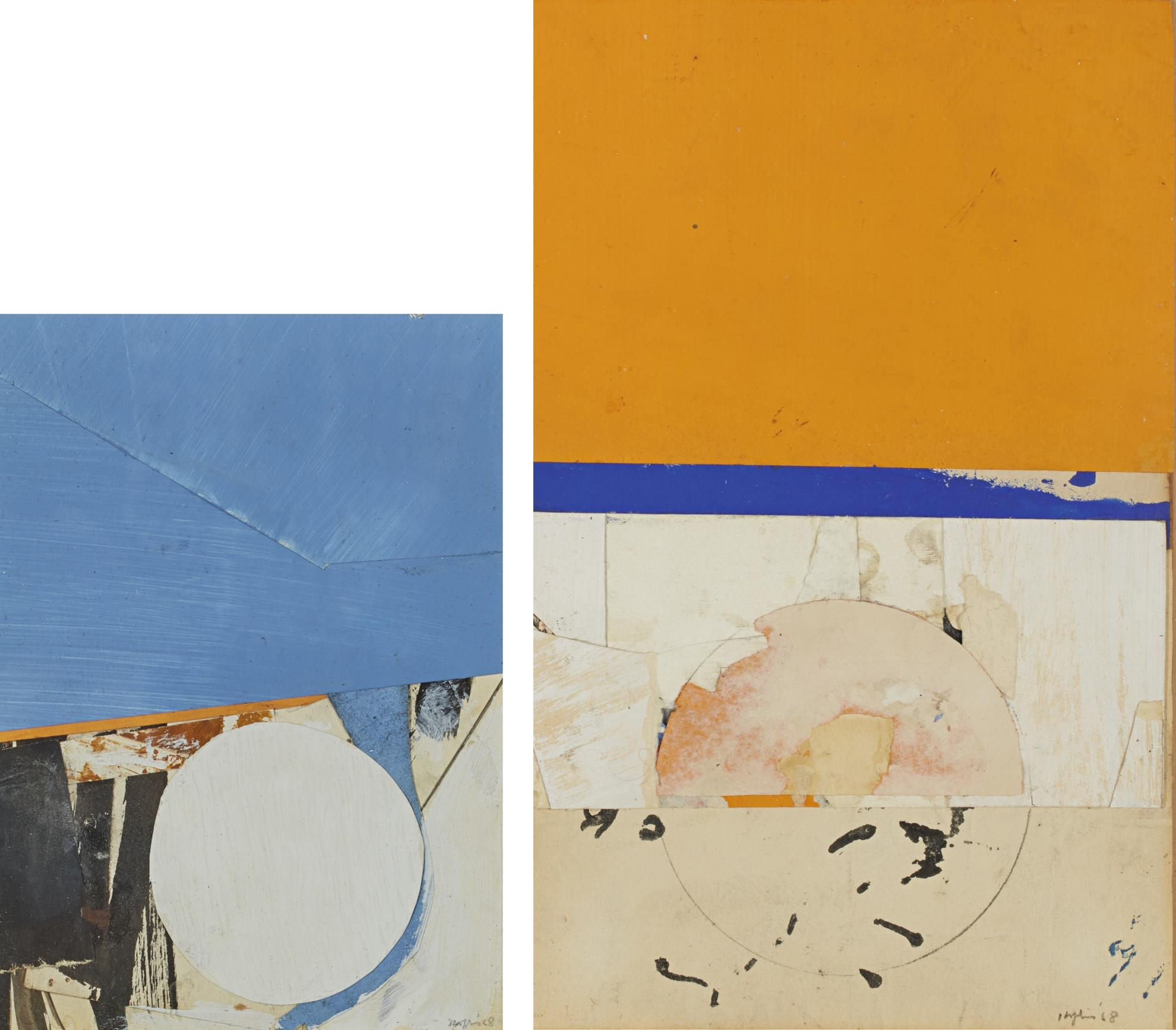 Budd Hopkins - 68-C-1; 68-C-33 [Two Works]-1968