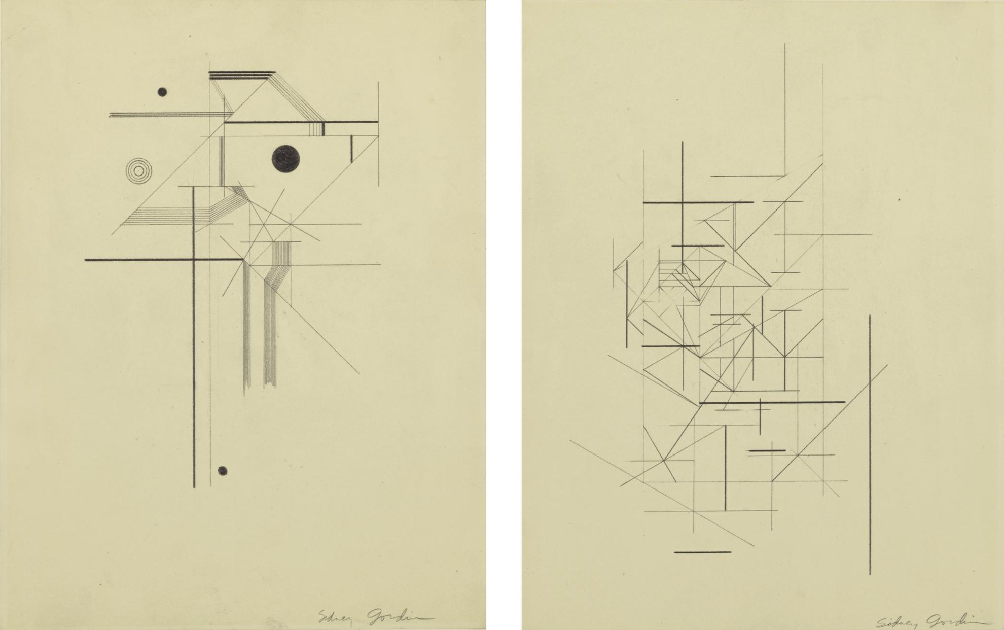 Sidney Gordin - A Pair Of Drawings-1940