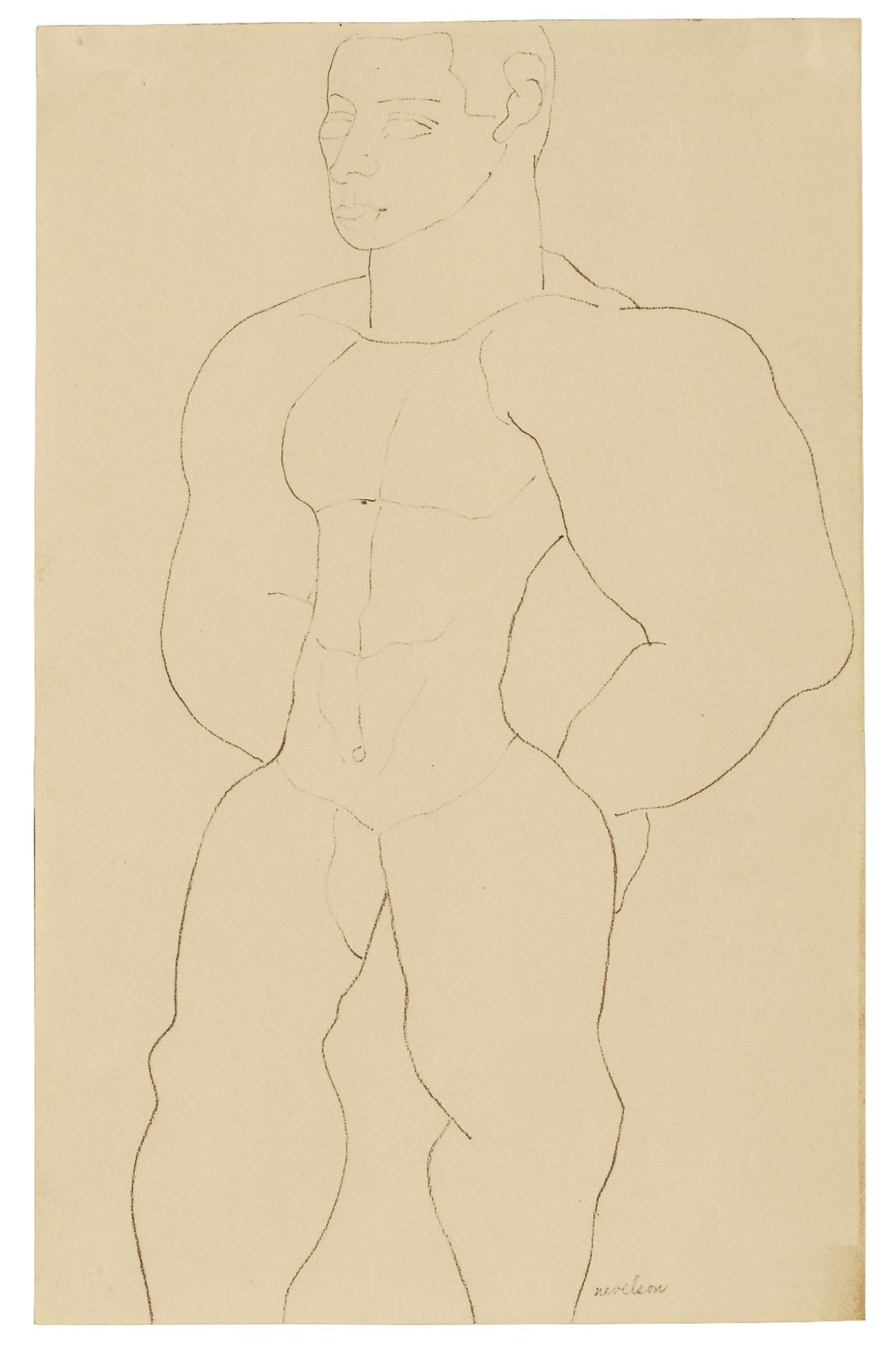 Louise Nevelson-Untitled (Male Nude)-1930