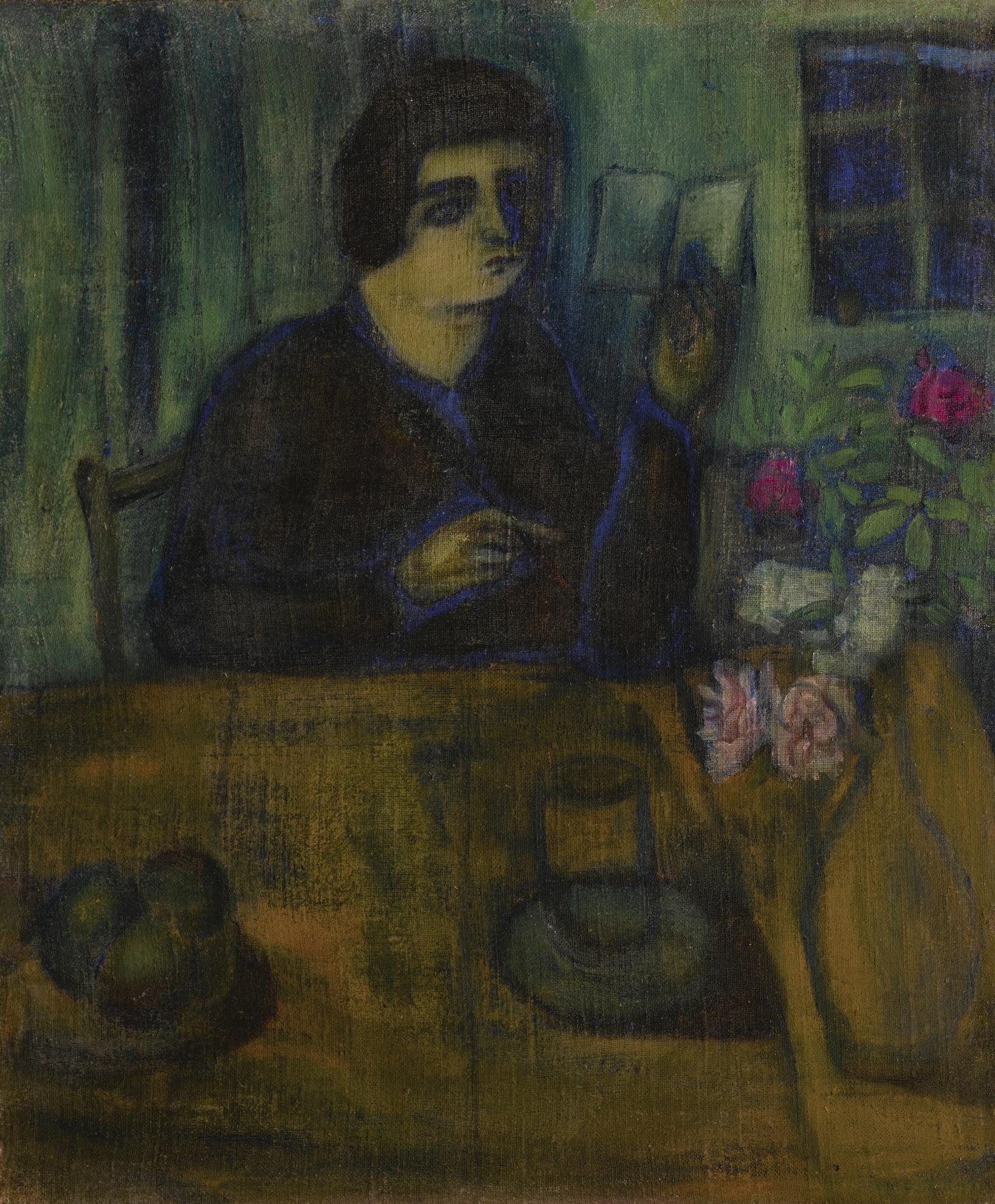 Marc Chagall-Portrait De La Soeur De L'Artiste-1908