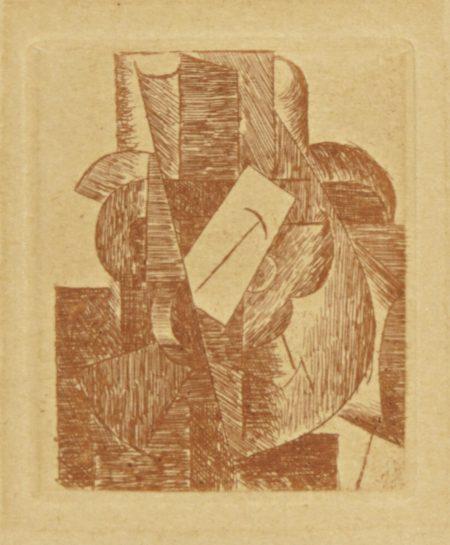 Pablo Picasso-L'homme Au Chapeau (From Du Cubisme)-1915