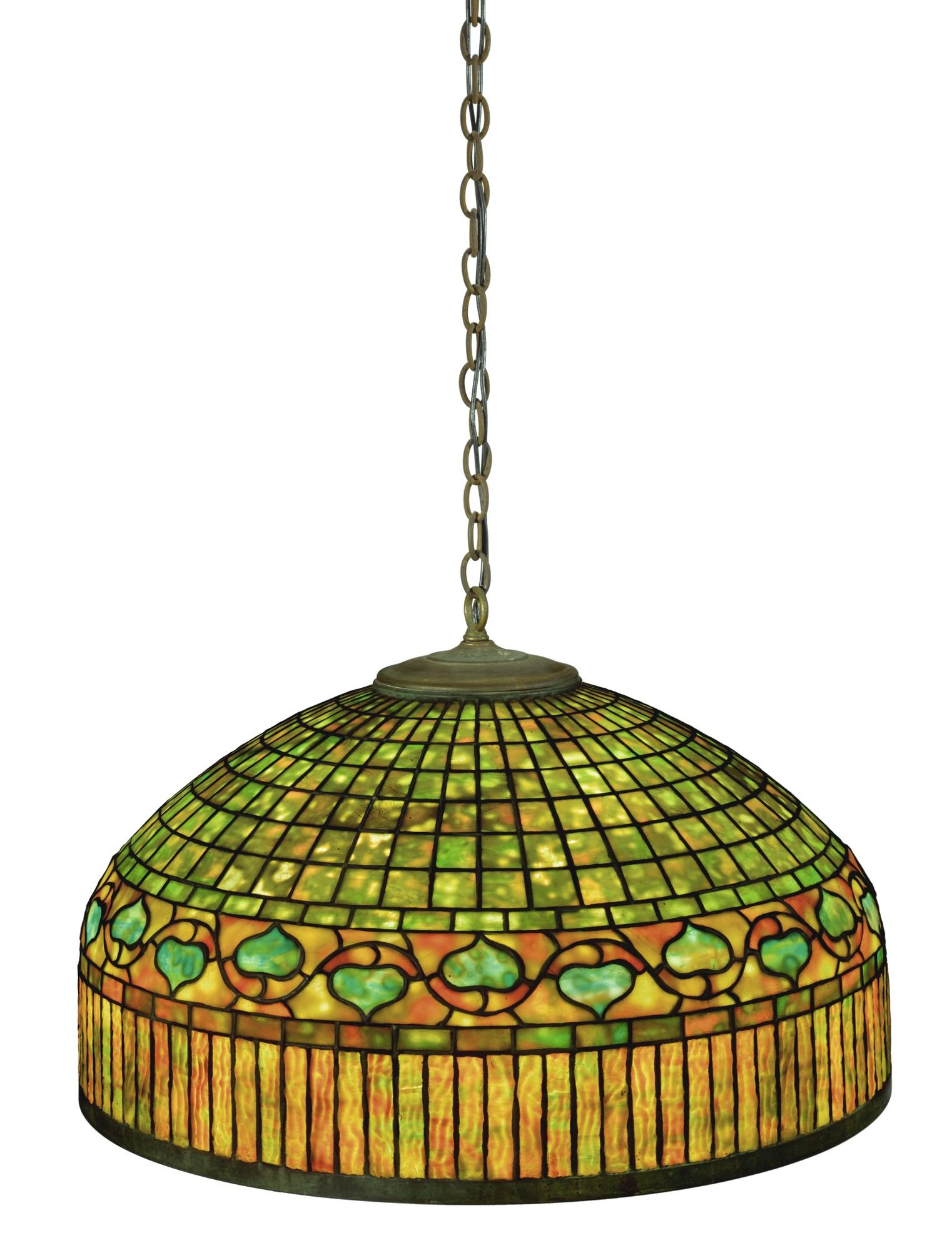 Tiffany Studios - 'Curtain Border' Chandelier-1915