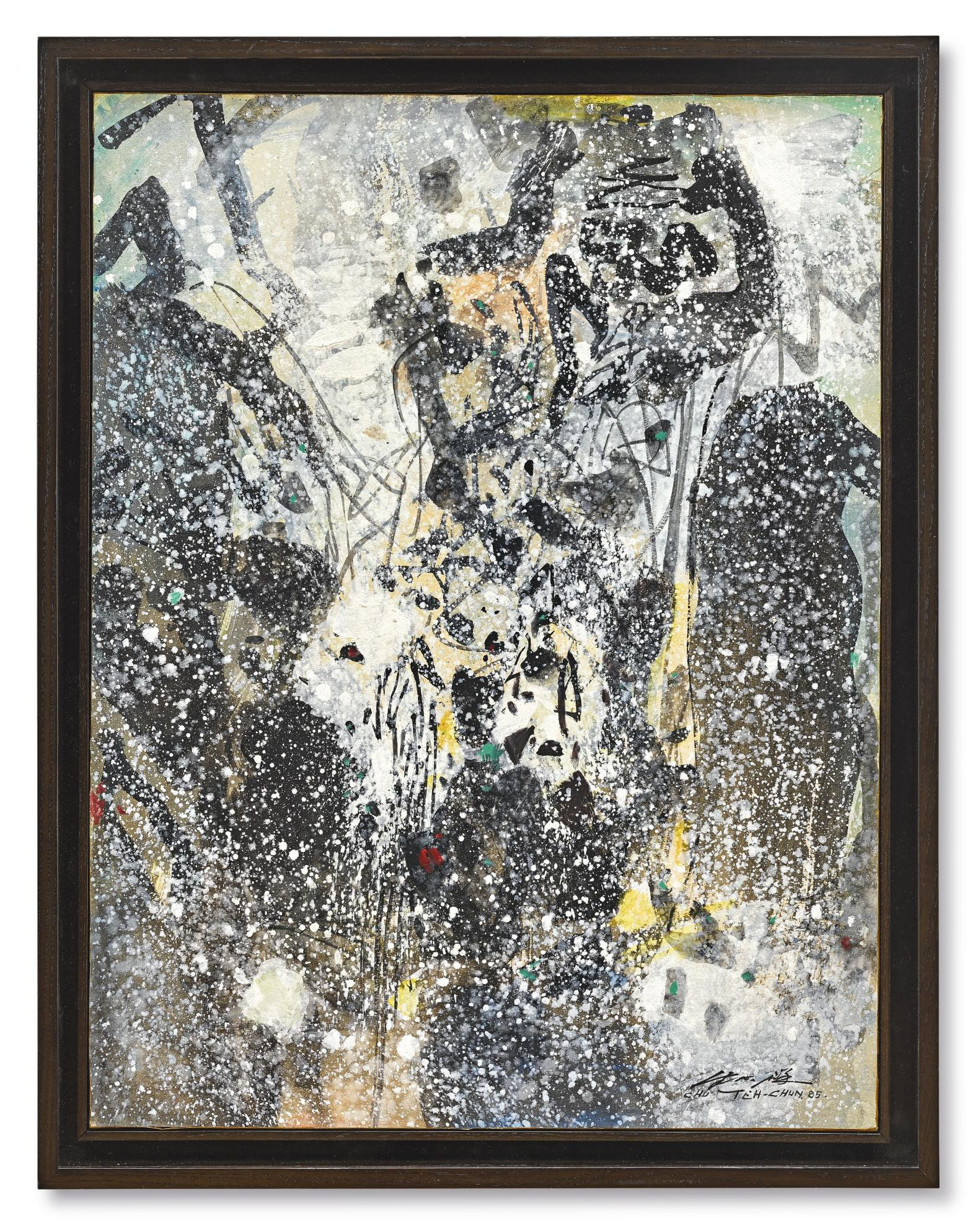 Chu Teh-Chun-Abstraction Neige II-1985