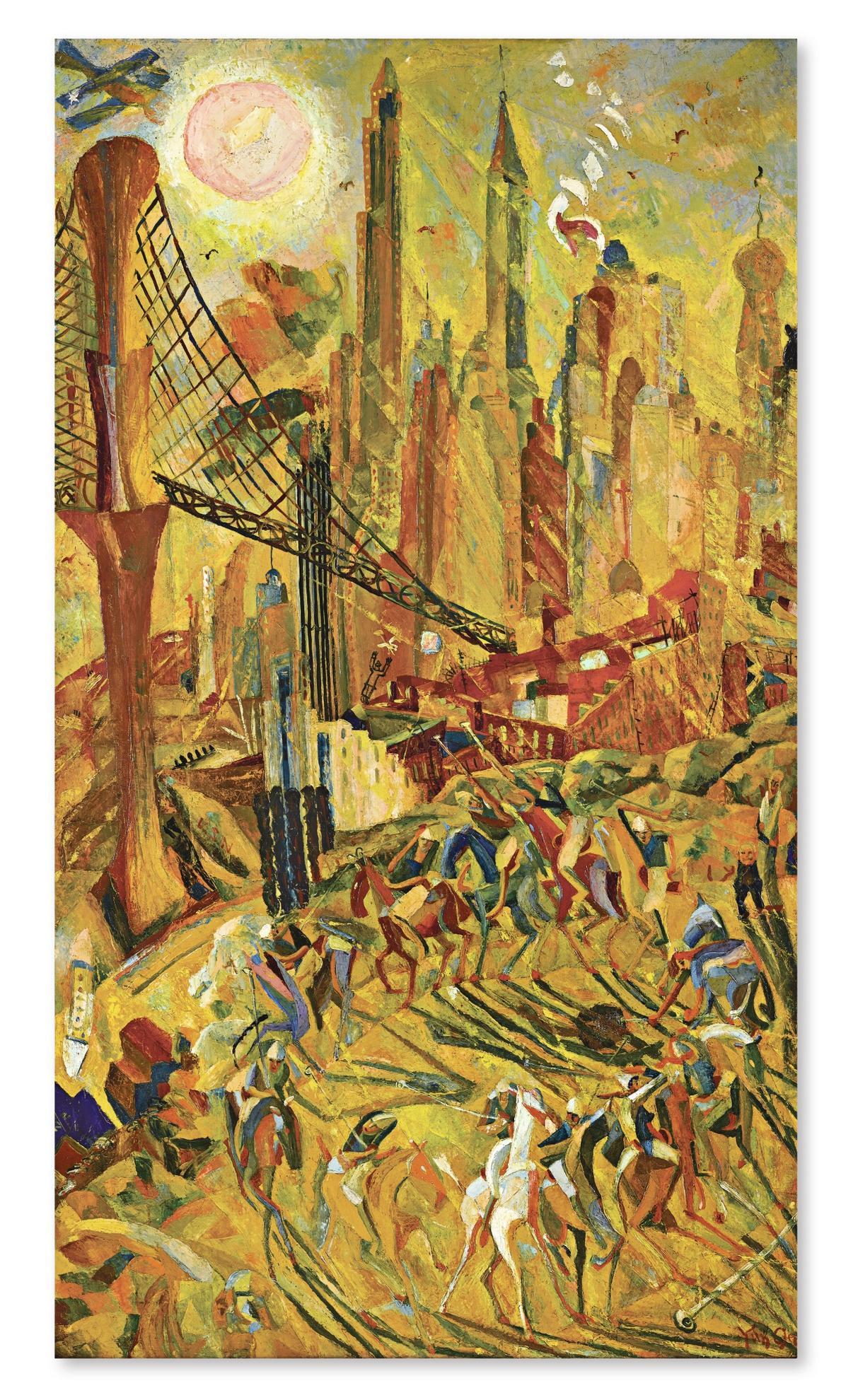 Yun Gee-Wheels: Industrial New York-1932