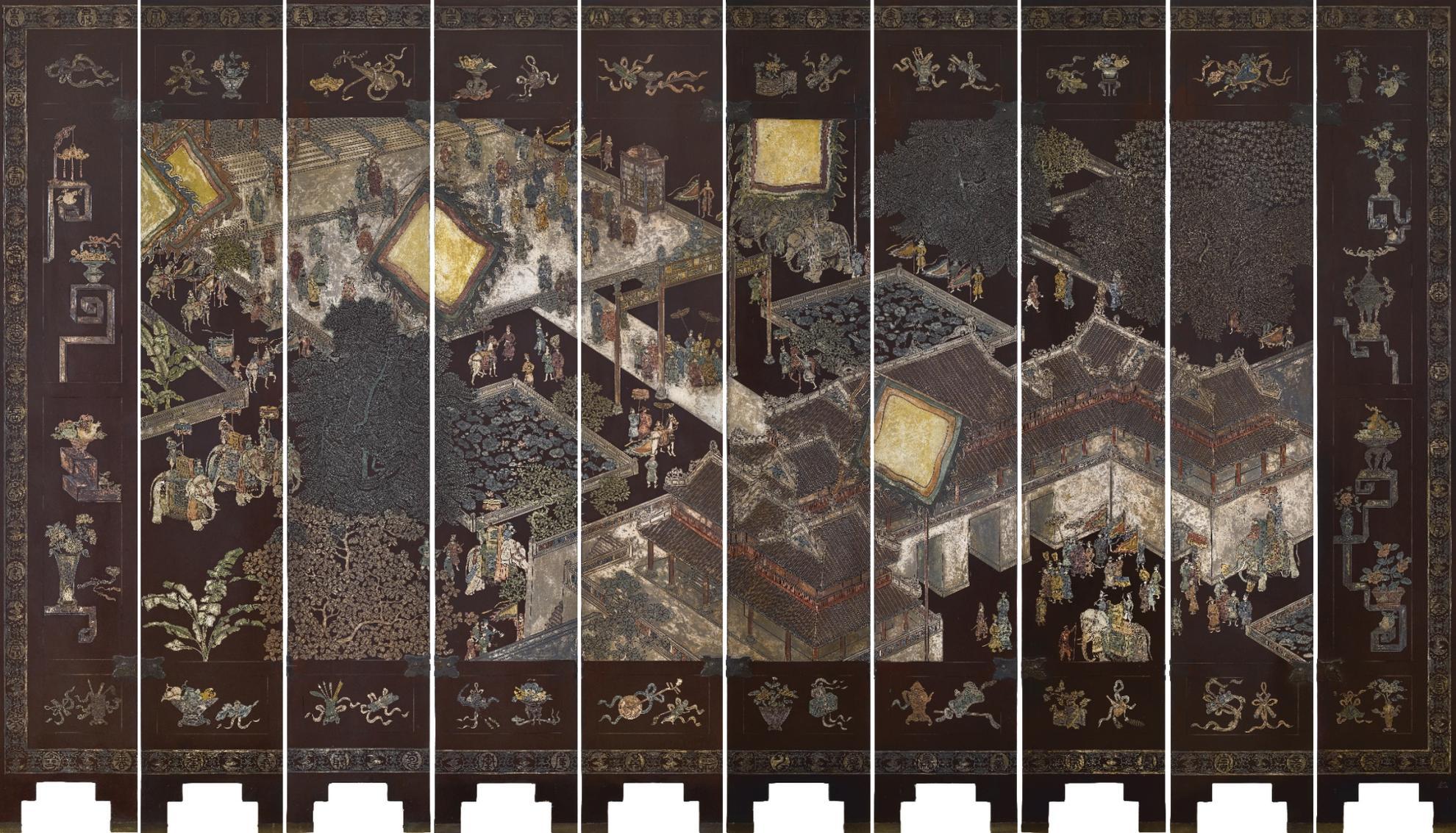 Maison Des Beaux Arts De L'Indochine - An Important Coromandel Lacquer Screen-