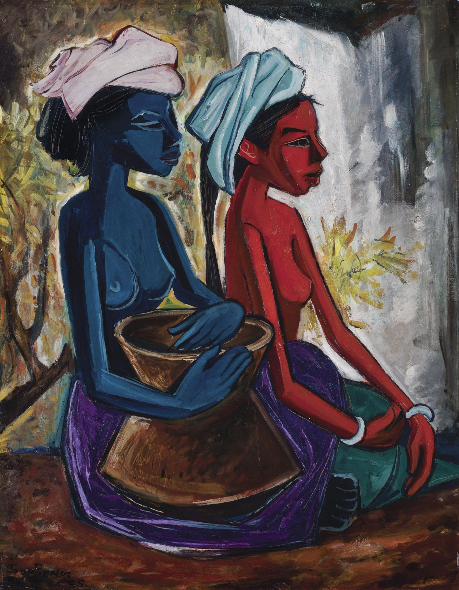 Cheong Soo Pieng-Seated Maidens-1955