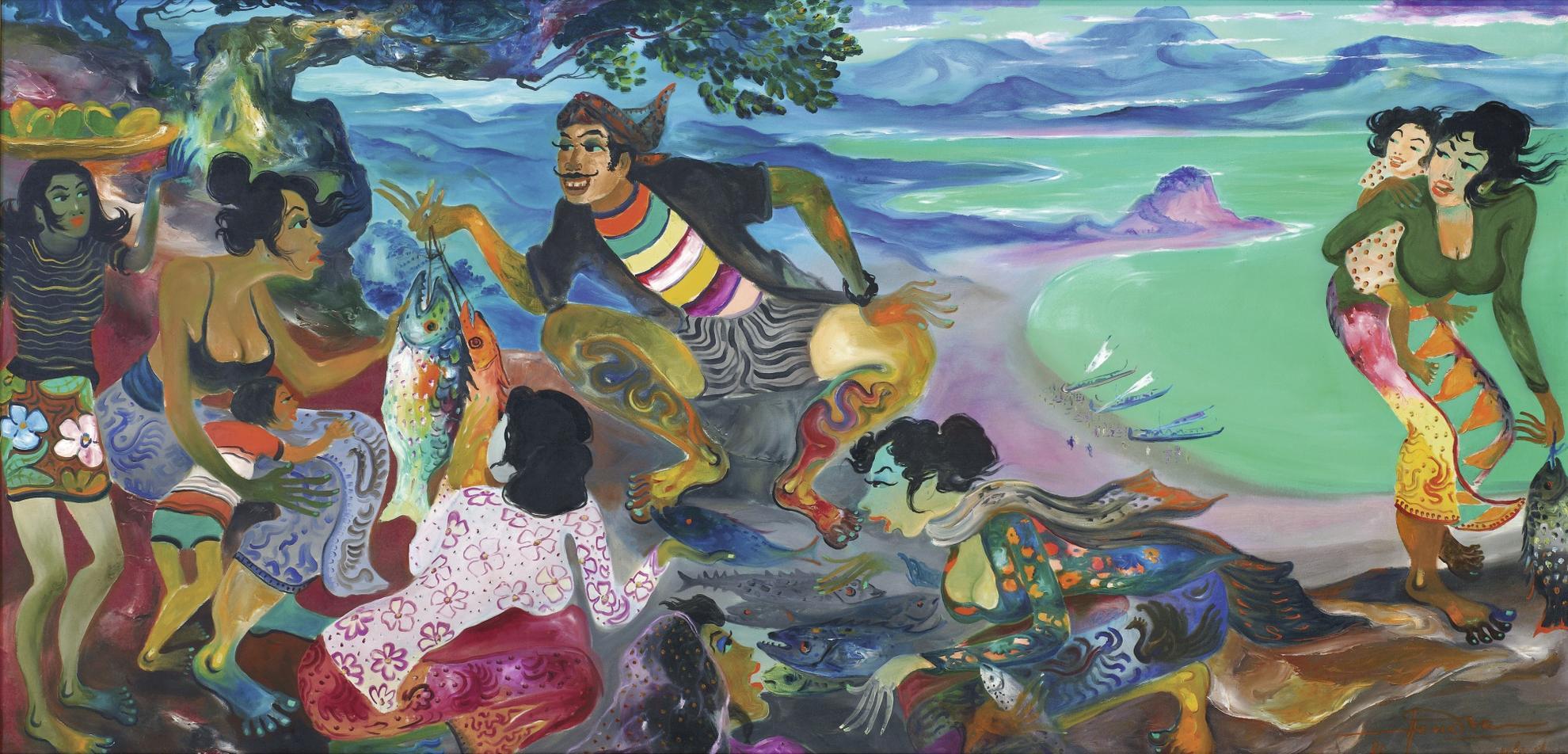 Hendra Gunawan-The Fish Seller-1981