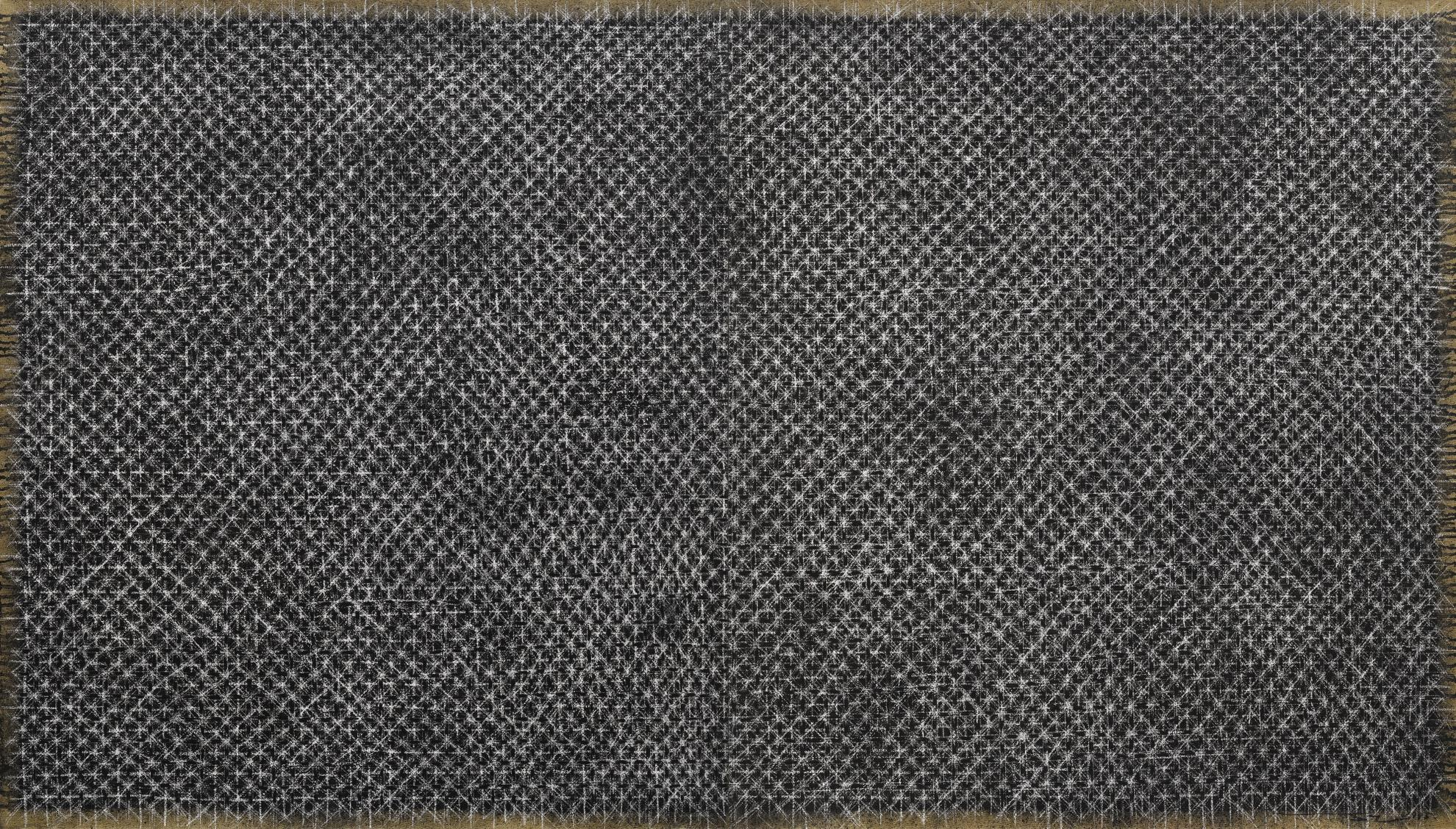 Ding Yi-Appearance Of Crosses 95-18 (Diptych)-1995