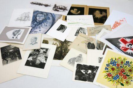Portfolio with several prints-