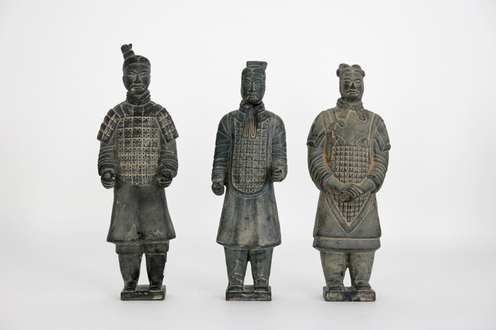 Three 'Chinese warriors' in ceramic-