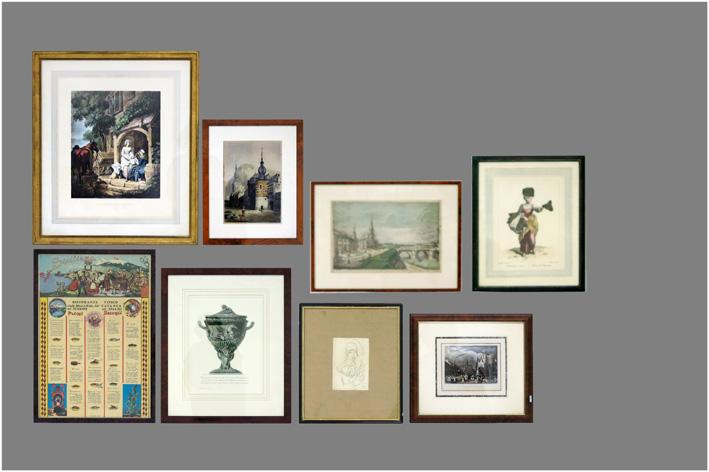 Several prints-