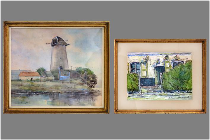 Geo Van Bocxstaele - Maison Fleurie; Molenlandschap-