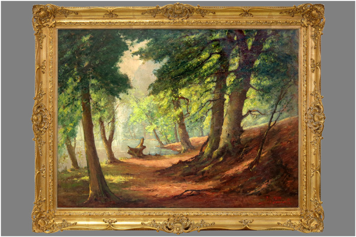 Govaerts Jos - Forest view with pond-