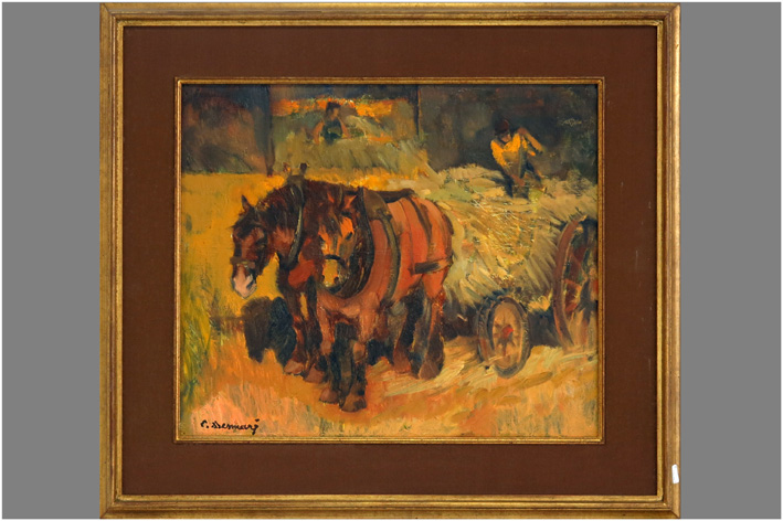 Desmar Lucien - Farmer with two horses-