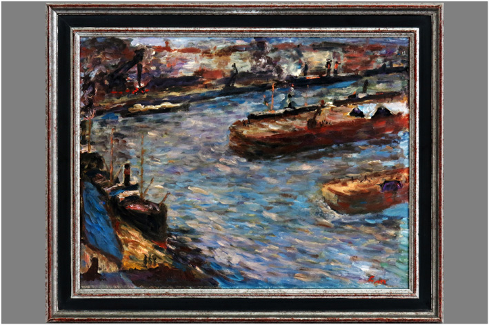 Masereel Frans - Harbor view-