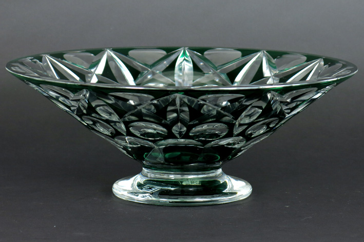 Belgian Art Deco-bowl in VSL crystal-