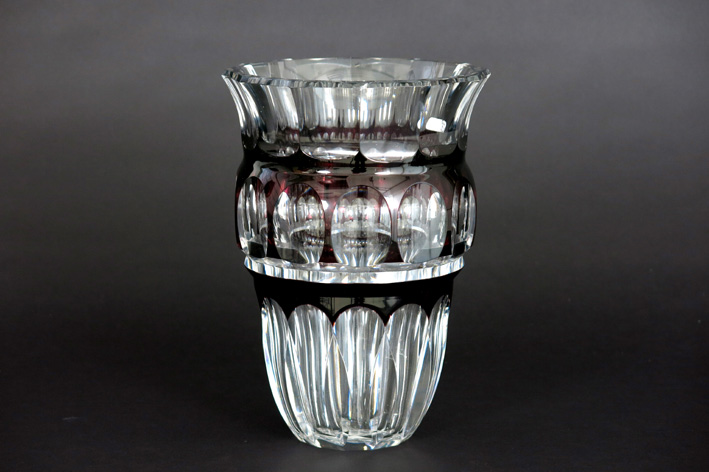 Vase in signed VSL crystal-