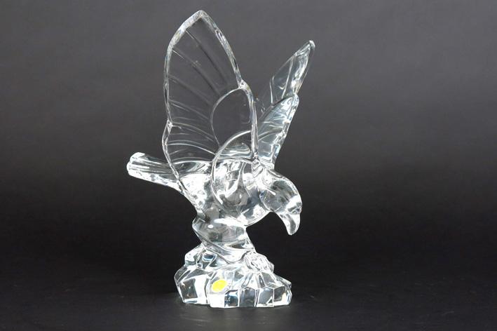 Belgian sculpture in crystal, marked VSL-