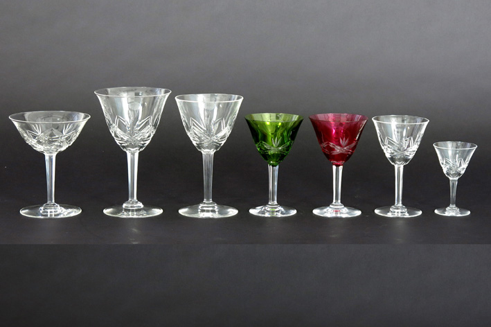 Belgian set of glasses in crystal VSL-