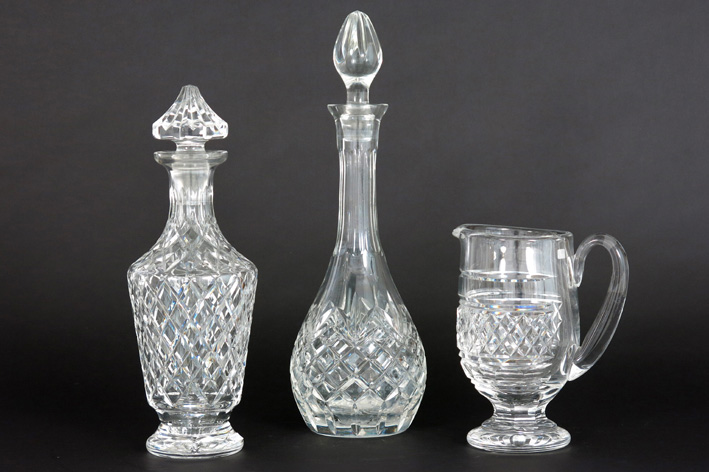 3 pieces of crystal-