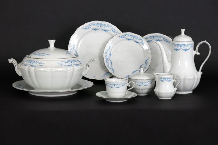 Dinner and coffeset in marked 'Bavaria' porcelain-