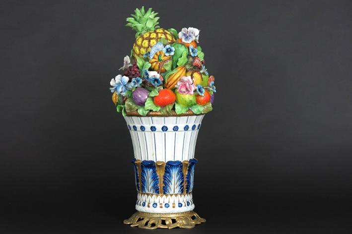 Ornamental piece in marked porcelain-