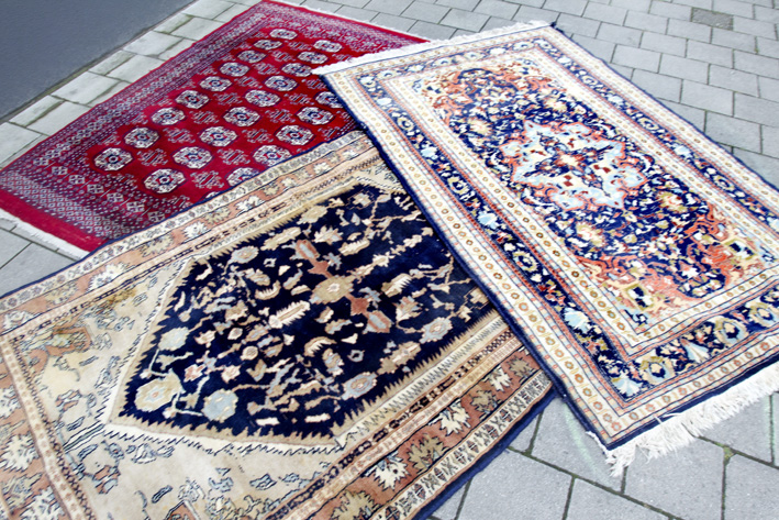 3 oriental handknotted carpets-