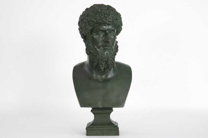 Sculpture in bronze with the representation of caesar 'Lucius Aelius Verus'-