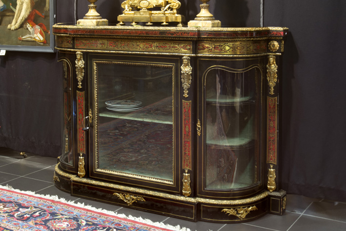 Nice 19th Cent. French Napoleon III sideboard in 'Boulle' with ebony and tortoiseshell and with mountings in guilded bronze-1870