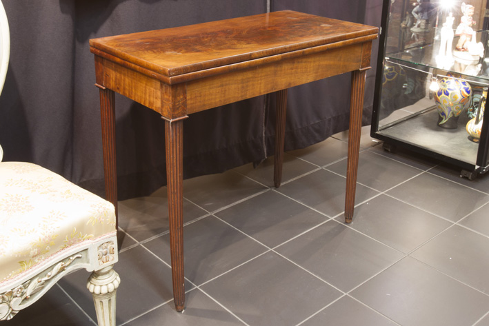 19th Cent. neoclassical games-table in mahogany-