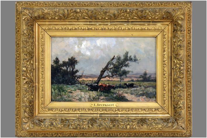 Beernaert Euprosine - Landscape with cows-