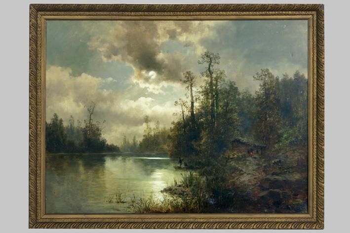 Gine Vasil'evich - Landscape at sunset-