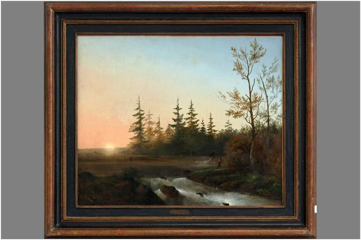 Steffelaar Cornelis - Landscape with trees at sunset-