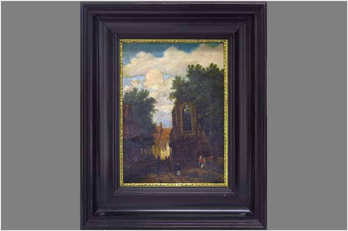 19th Cent. probably Belgian oil on canvas-