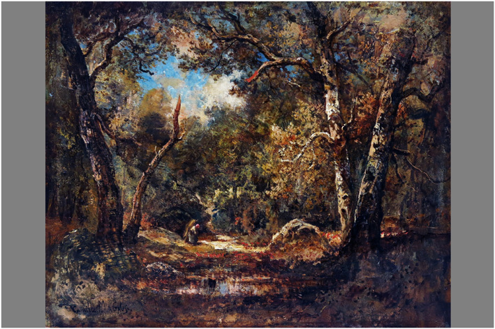 Magnus Camille - Woodland with a woodstick-