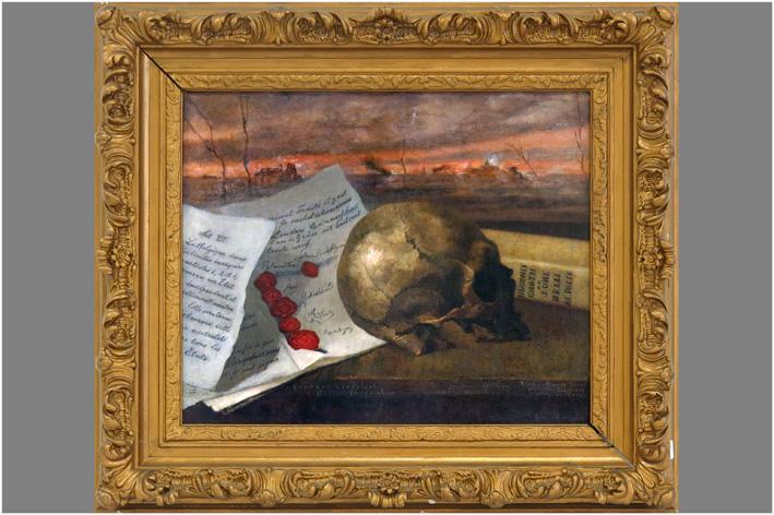 Ruysch Aletta - Still life with deathhead-