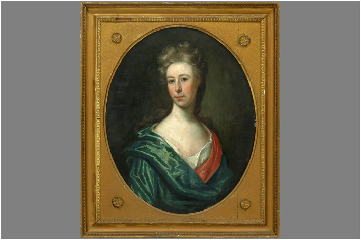 English School - Young noble lady-
