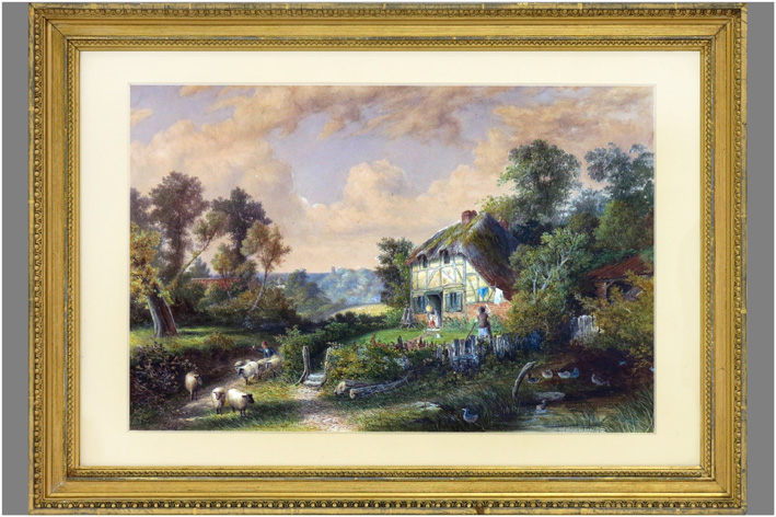 Varley Edgar John - Cottage scene near Northwich-1869