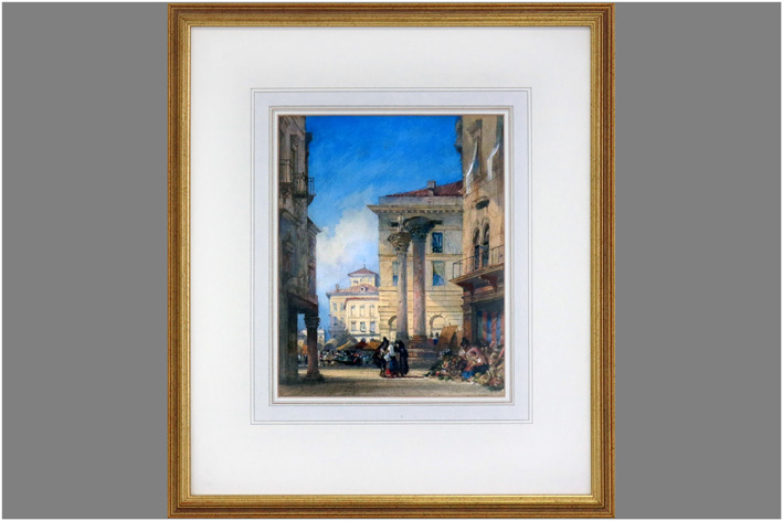 Wylot William - View of Vicenza Market in Italy-