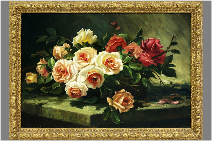 Mortelmans Frans - Still life with roses-