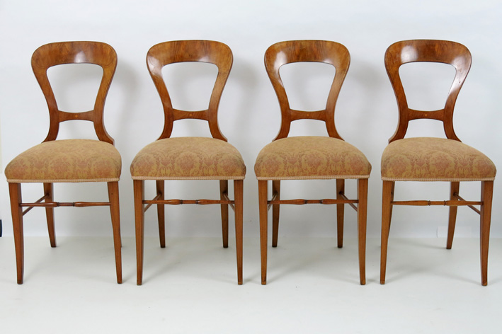 Set of four 19th Cent. Viennese 'Biedermeier' chairs-