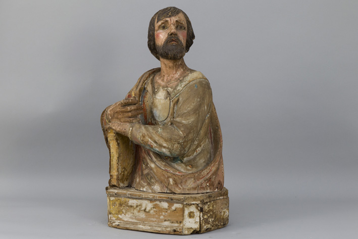 17th Cent. North-Italian sculpture in wood with its original polychromy-