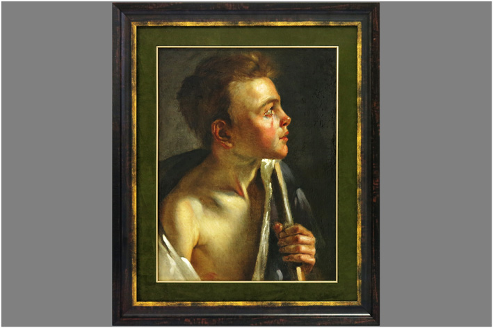 Girodet de Roissy-Trioson Louis - Looking boy in profile with staff-