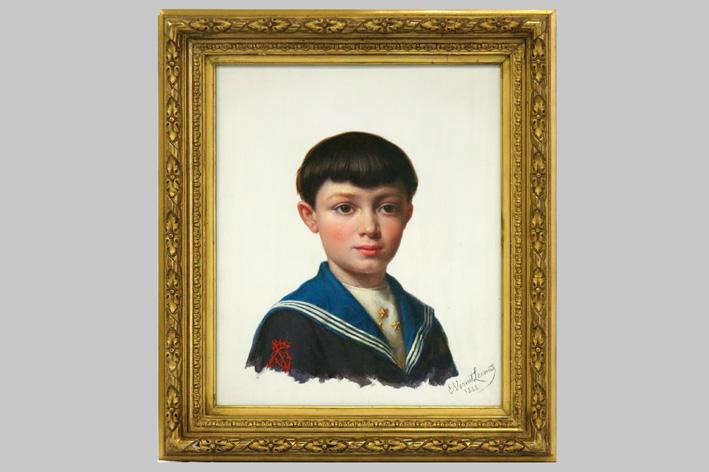 Lecomte-Vernet Emile Charles H. - Portrait of a boy-